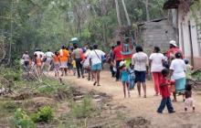 Al menos 176 desplazados por enfrentamientos entre Clan Golfo y ELN en Chocó