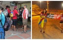Frente Rojiblanco Sur atiende a hinchas del Deportivo Lara y les dona alimentos