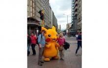 Pikachus gigantes se toman las calles de Bogotá