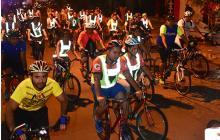 Mañana martes se realizará el quinto bicipaseo nocturno en Barranquilla