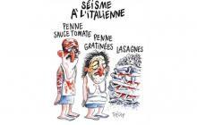 "Viñeta del semanario satírico ""Charlie Hebdo""."