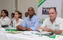 El ministro de Ambiente Luis Gilberto Murillo en la reunión de este martes con alcaldes.