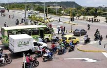 Cartagena vivió el primer sábado con pico y placa