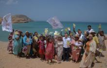 """Caravana de """"sí a la paz"""" llegó a la Alta Guajira"""