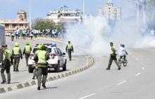 Alteraciones del orden público en medio de protesta de Estudiantes del Sena