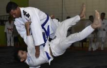 Juan Pablo Ruiz Guerrero durante un entrenamiento.