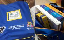 Así se ve el kit que están entregando a los jóvenes en Santa Marta.