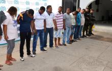 Los capturados fueron enviados a la cárcel por un juez.