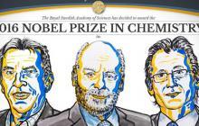 Jean-Pierre Savage, James Fraser Stoddart y Bernard Feringa son los ganadores del Nobel de Química 2016.