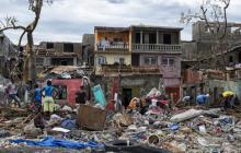 Vista general de una zona de la ciudad de Jeremie (Haití), la cual fue azotada por el huracán.