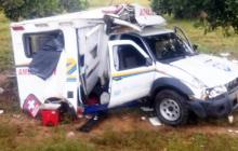 Rayo impacta ambulancia en una carretera de Sucre