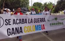Multitudinaria marcha en Córdoba por la paz