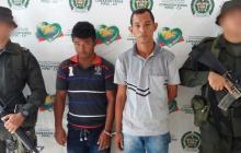 Los detenidos fueron identificados como Alexander José Mestra Flórez, de 27 años y John Fray Díaz Paternina, de 32 años, oriundos de ese municipio.