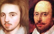 Christopher Marlowe y William Shakespeare.