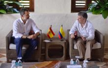 Rey de España reiteró respaldo a la paz y voluntad de cooperación con Colombia