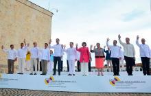 Mandatarios claman paz en Cumbre de Cartagena