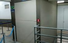 Este es el ascensor provisional que registró fallas técnicas.