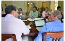 Delegaciones del Gobierno y las Farc reunidas en La Habana