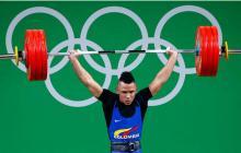 El medallista olímpico colombiano Luis Javier Mosquera, durante los Juegos de Río.