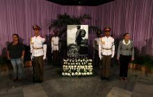 Cenizas de Fidel reposan en la sala Granma del Ministerio de las FAR