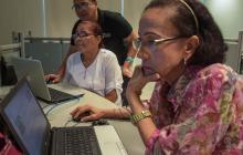 Edith Noriega en el curso de Adobe 2.0.