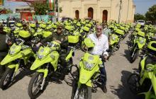 El gobernador Eduardo Verano durante la entrega de motocicletas a la Policía, la última semana de diciembre.