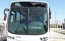 Así quedó el bus del servicio de transporte Transmetro.