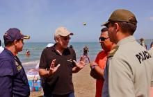 Gobernador visitó playas que serán mejoradas.