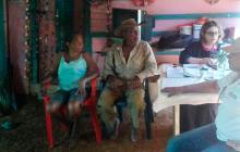 Los jueces se desplazaron varias veces a la zona para escuchar los testimonios de los campesinos que fueron desplazados.