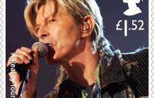 David Bowie en estampillas del Reino Unido a un año de su muerte