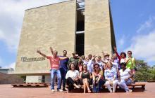 En el Museo del Caribe, Juan José Jaramillo, Ruby Rubio, Carla Celia y María Eulalia Arteta, entre otros.