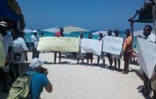Nativos de Barú protestan para que los incluyan en proyectos de desarrollo