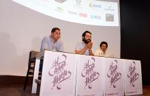 Giuliano Cavalli, Jorge Mario Suárez y Carlos Montoya, en la rueda de prensa.