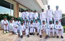 El grupo completo de los 20 deportistas que integran el programa 'Team Barranquilla', creado por la Alcaldía.