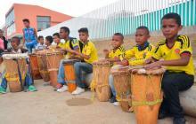 Niños asistentes de los talleres de las Casas Distritales de Cultura.