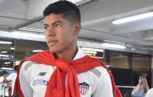 Enrique Serje, este lunes a su llegada a Barranquilla.