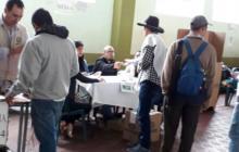 Votaciones realizadas este domingo en Cajamarca, Tolima.