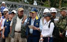 Santos supervisa plan de recuperación de Mocoa
