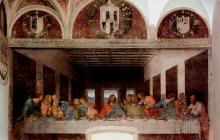 'La última cena', en el refectorio del convento de Santa María delle Grazie, en Milán.