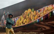 Artista brasileño pinta el grafiti más grande del mundo