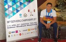 El entrenador atlanticense Luis Arrieta, en el Campeonato Mundial de Tailandia.