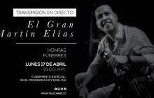EL HERALDO transmite honras fúnebres de Martín Elías