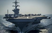 Un portaaviones de la fuerza militar de los Estados Unidos.