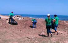 Desde las 6:00 de la mañana se realizó la limpieza en las playas de Punta Roca.