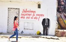 ¿Qué hay escrito en las paredes de Barranquilla?