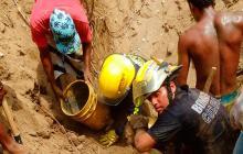 Venezolano murió sepultado por alud en cantera de Santa Marta