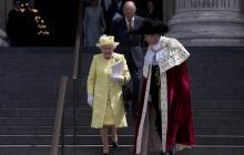 Una fotografía de la reina Isabel y el príncipe Felipe.