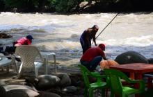 El caudal del río Guatapurí aumentó en la parte baja tras las fuertes lluvias que se registran en la Sierra Nevada.