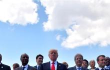 Otro ángulo de la foto oficial de la Cumbre del G7 que debatió sobre el cambio climático.