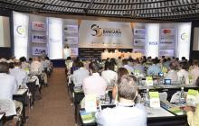 Aspecto de la convención bancaria que se realiza en Cartagena.